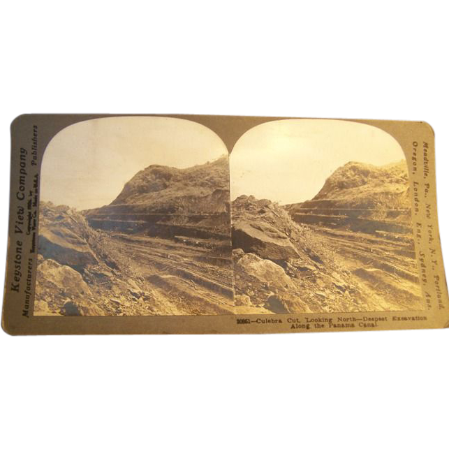 Keystone Photo Stereoview Card Panama Canal