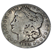 1881 S Morgan Silver Dollar