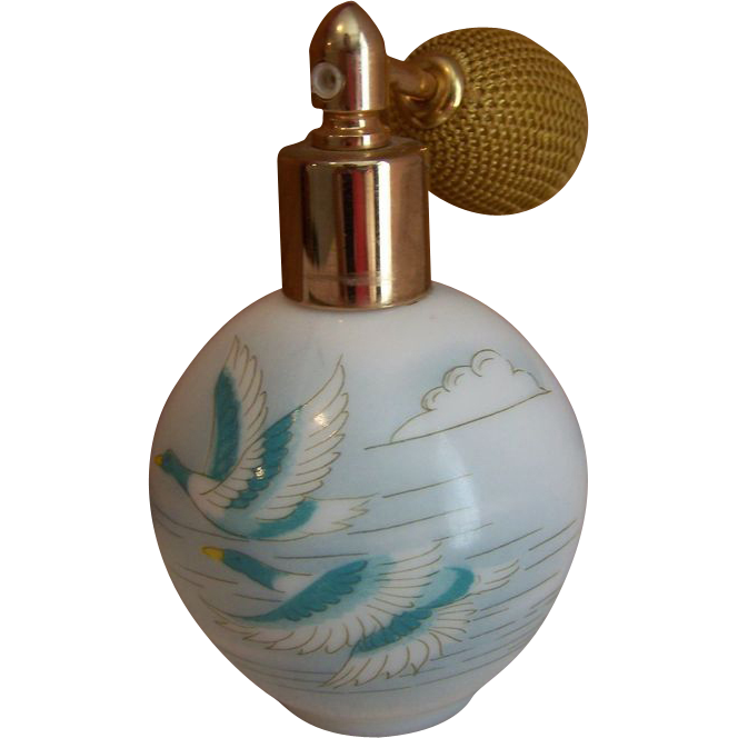 Perfume Atomizer Hand Painted W. German
