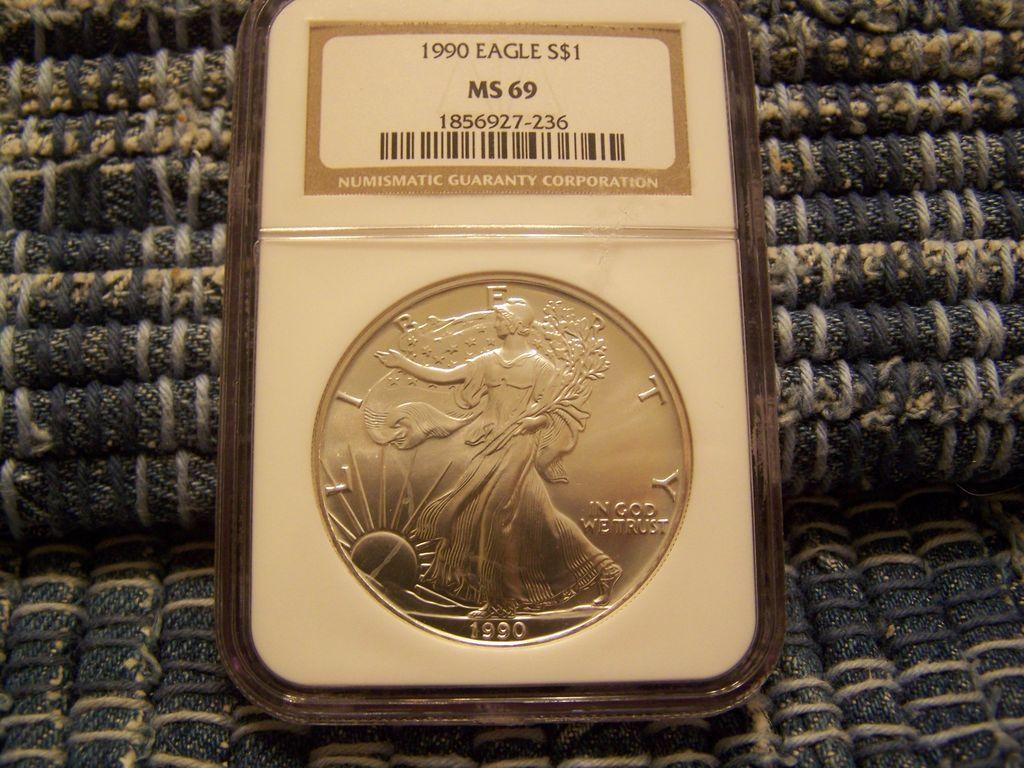 1990 Eagle Silver Dollar NGC MS-69
