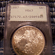 1887 Morgan Silver Dollar PCGS MS-63