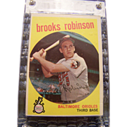 1959 Topps Brook Robinson Baseball Card #439