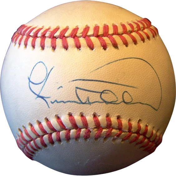 Cecil Fielder Autographed Baseball Wings Antiques Ruby
