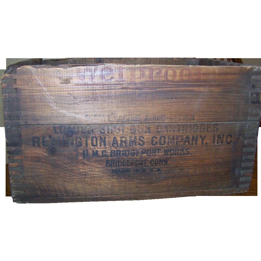 Remington Ammo Wood Box Dovetail