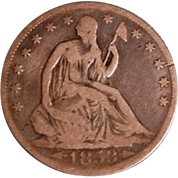 Liberty Seated Half Dollar 1853
