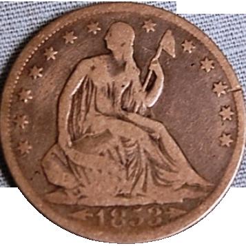 Liberty Seated Half Dollar 1853