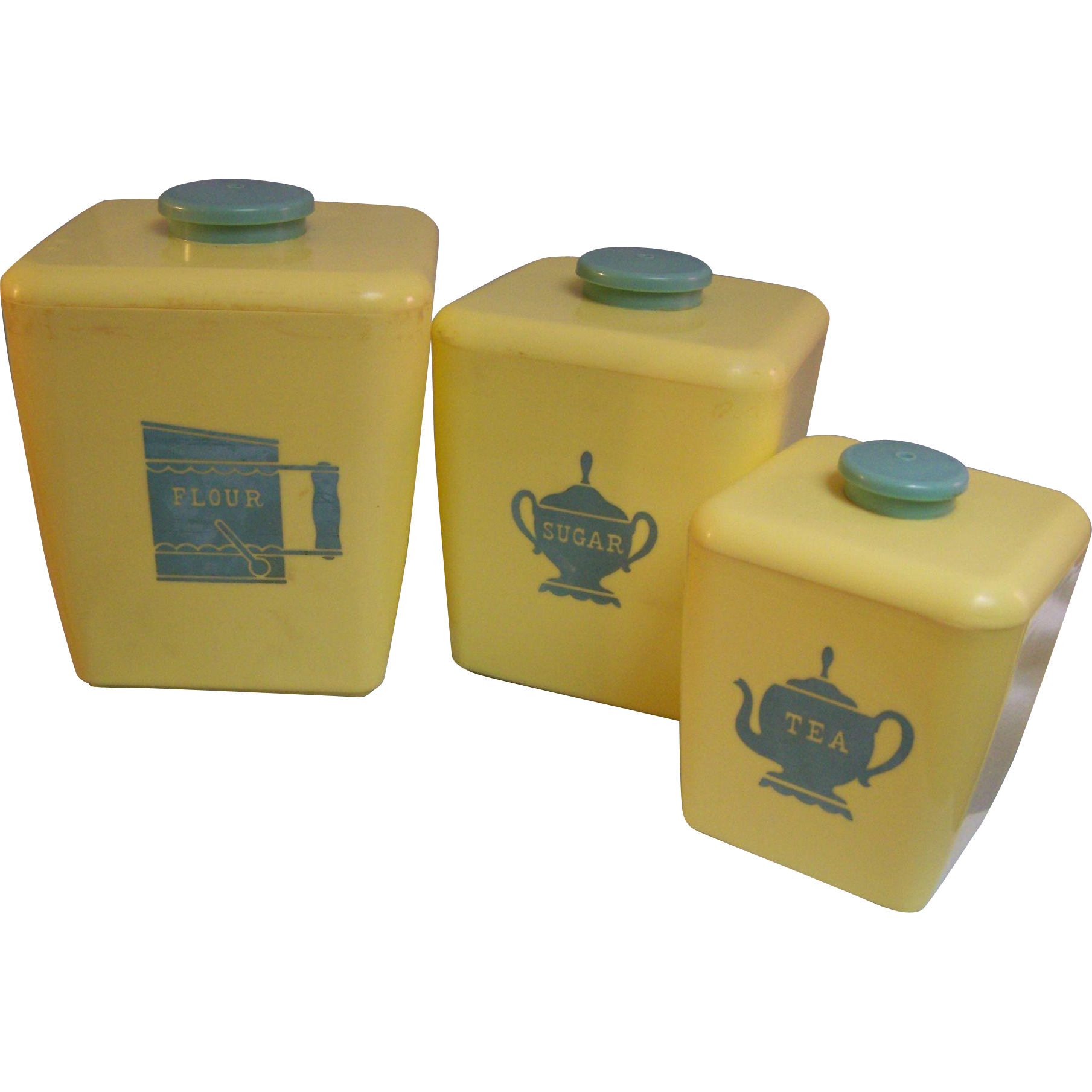 Plastic Canister Set Yellow