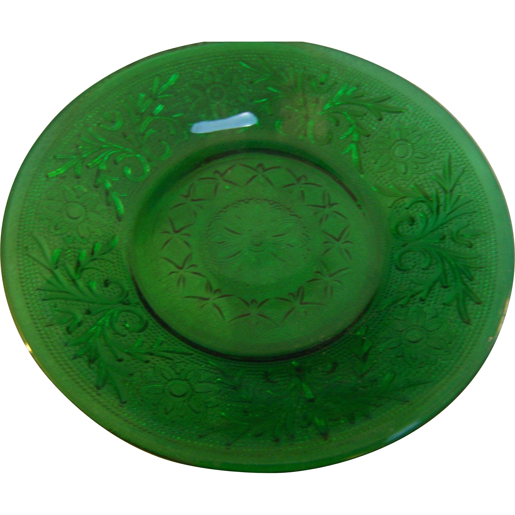 Hocking Green Sandwich Saucer