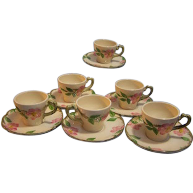 Franciscan Desert Rose Demi cup and Saucer  Set of 6
