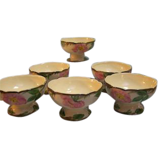 Franciscan Desert Rose Footed Sherbert Bowl
