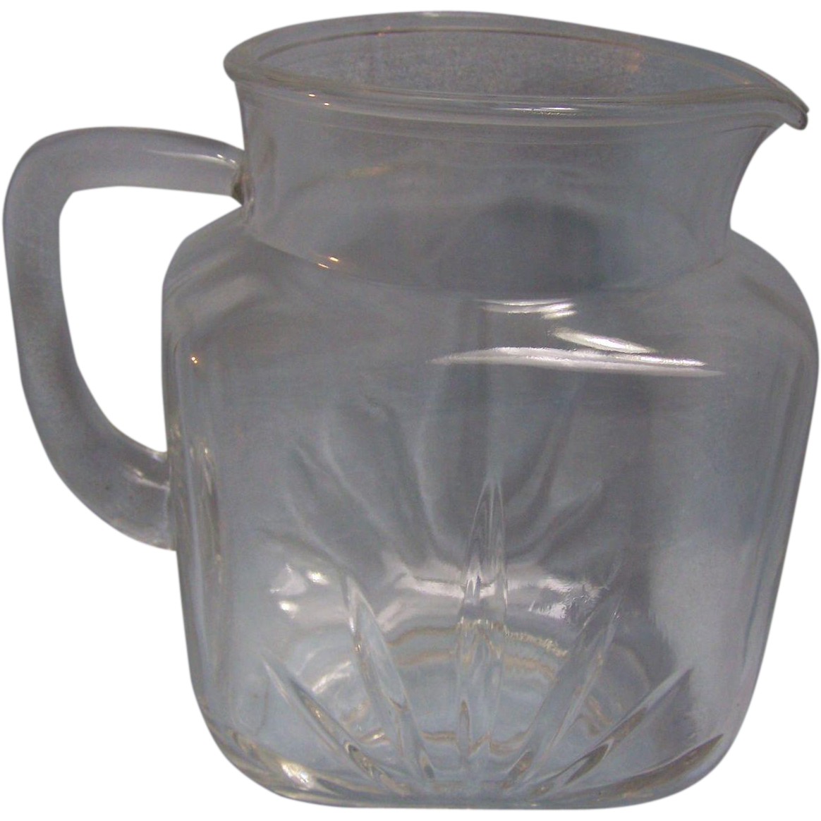 Star Federal Glass Milk Pitcher