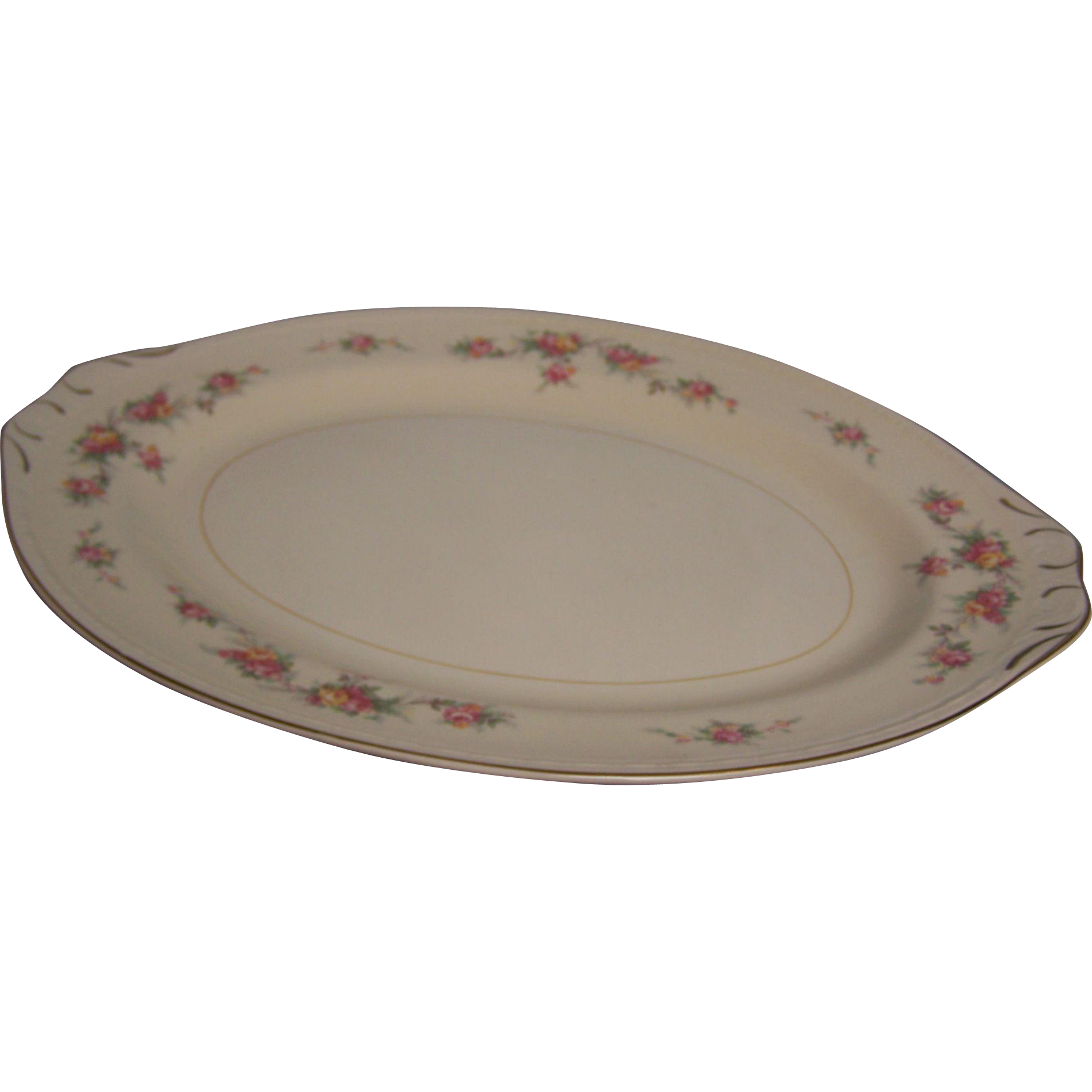 Homer Laughlin Platter Eggshell Georgian 16""