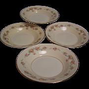 Homer Laughlin Rimmed Soup Bowl Eggshell Georgian set of 4