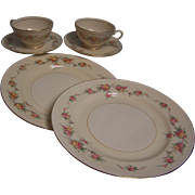 Georgian Eggshell Dinnerware set of 2
