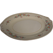 "Homer Laughlin 12"" Platter Eggshell Georgian"
