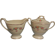 Homer Laughlin Creamer & Sugar Eggshell Georgian