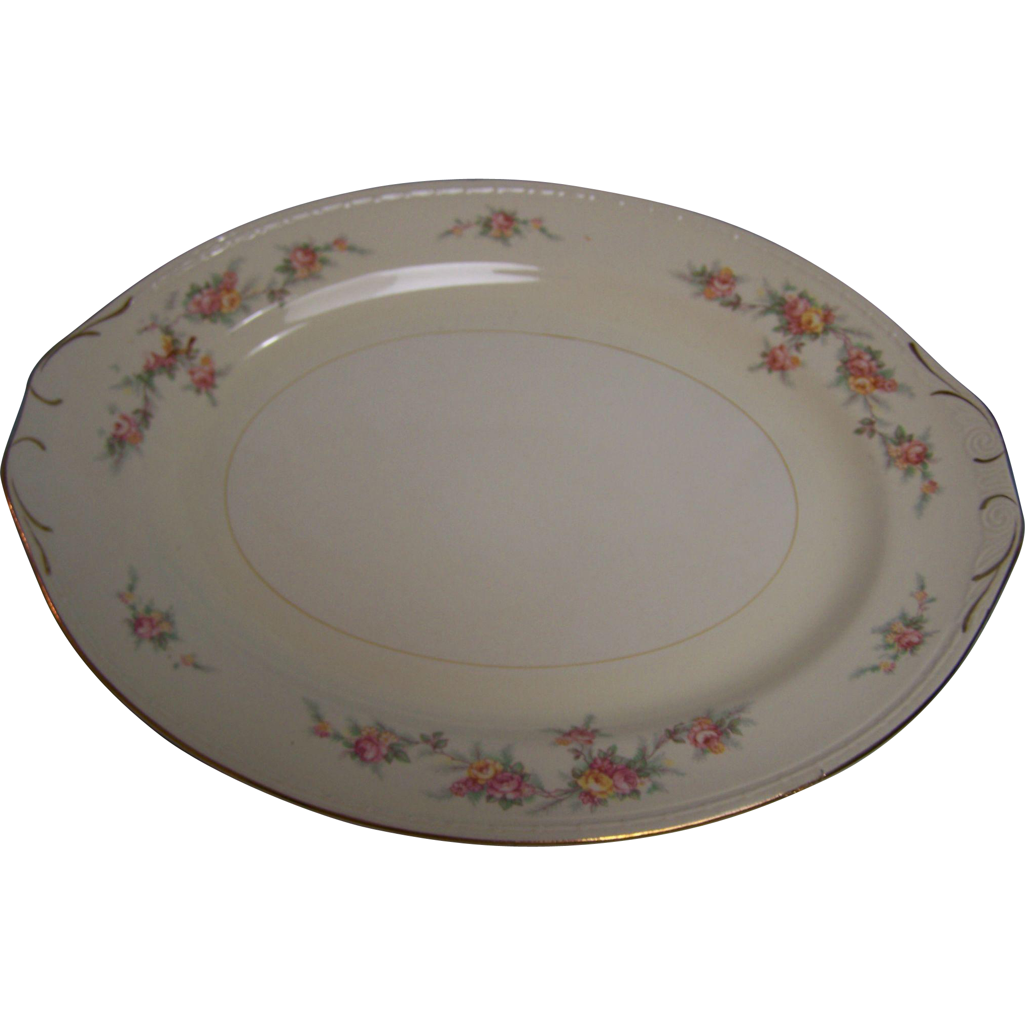 Homer Laughlin Platter Eggshell Georgian 13.5""