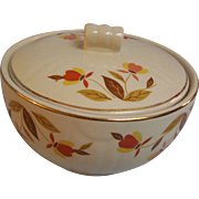 Hall Autumn Leaf Grease Bowl with Lid