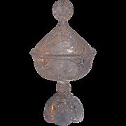 Hofbauer Byrdes Crystal Covered Compote