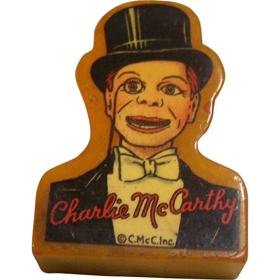 Charlie McCarthy Bakelite Pencil Sharpener