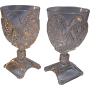 Crystal Goblet set of 2 Adams & Co