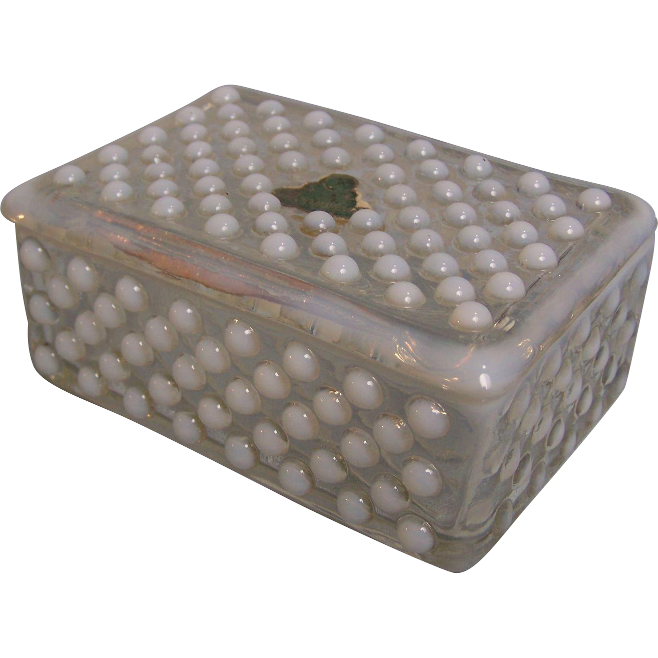 Moonstone Opalescent Trinket Cigarette Box Depression