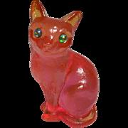 Cat Figurine Acrylic Lucite
