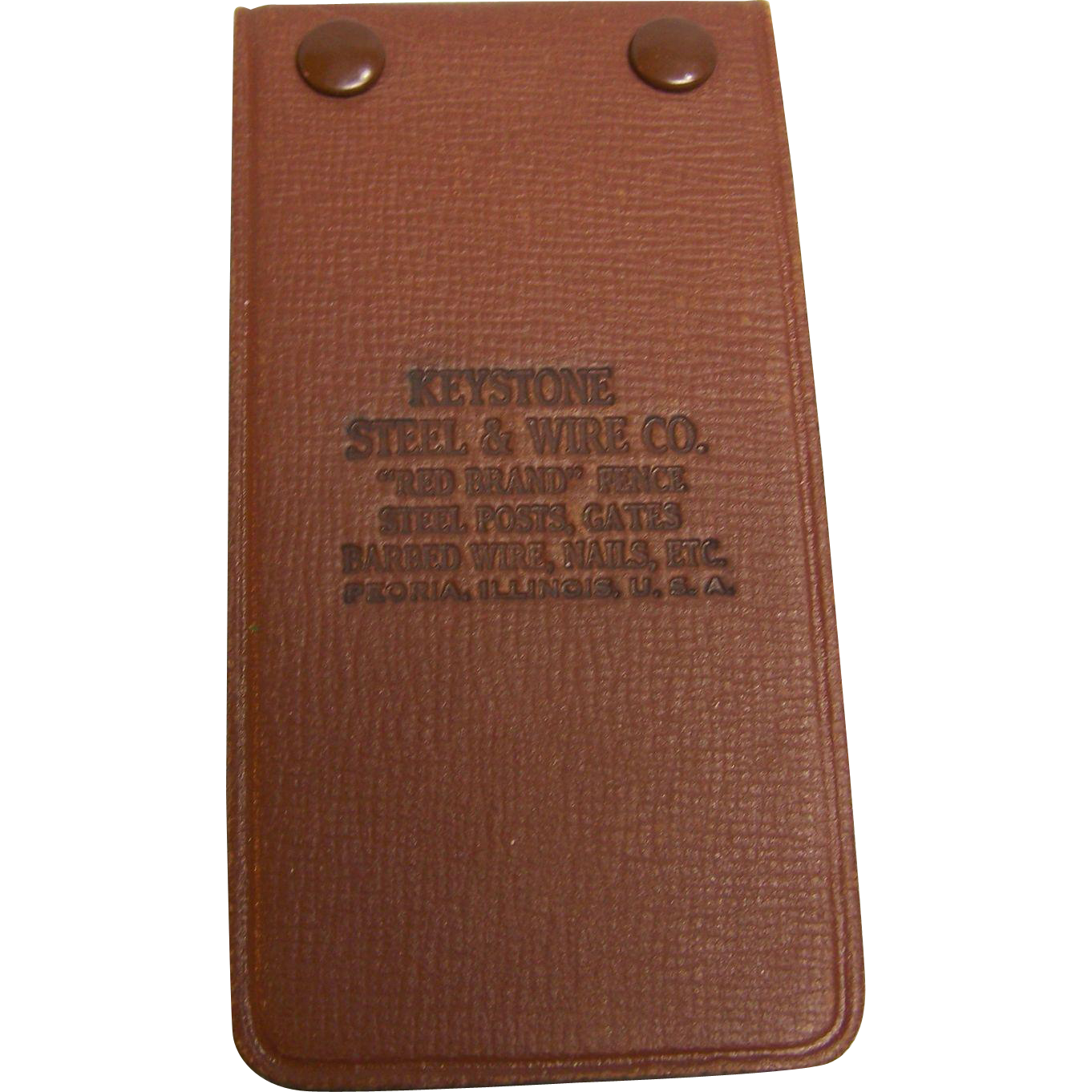 Advertising Pocket Notebook Keystone Steel & Wire Co