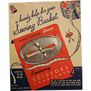 Kenberry Scissor Sharpener Original Card