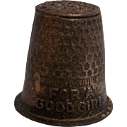 Child Thimble For a Good Girl Cracker Jack Prize