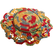 Crochet Pin Cushion Multi color Thread