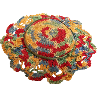 Crochet Pin Cushion Multi color Thread