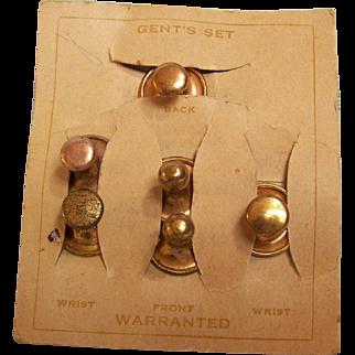 Victorian Collar and Cuff Gentlemen's Buttons set