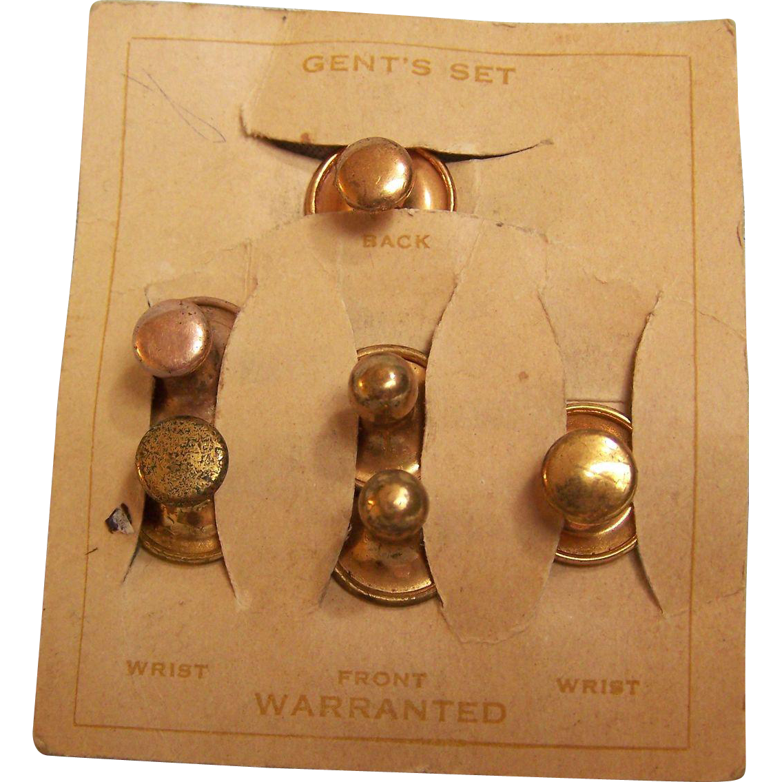 Victorian Collar and Cuff Gentlemen's Buttons set