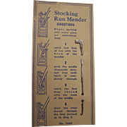 Stocking Run Mender Hook