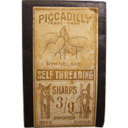 Piccadilly Self Threading Sewing Needles Rhineland