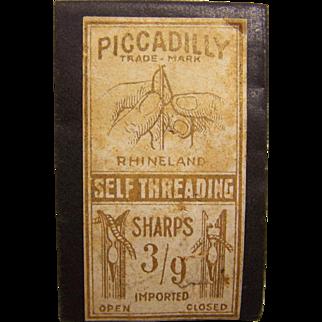 Piccadilly Self Threading Sewing Needles Rhineland