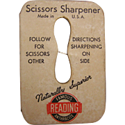Reading Scissor Sharpener Advertising