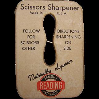 Reading Scissor Sharpener Advertising