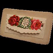 Victorian Calling Card Flap