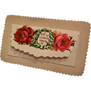 Victorian Calling Card Flap