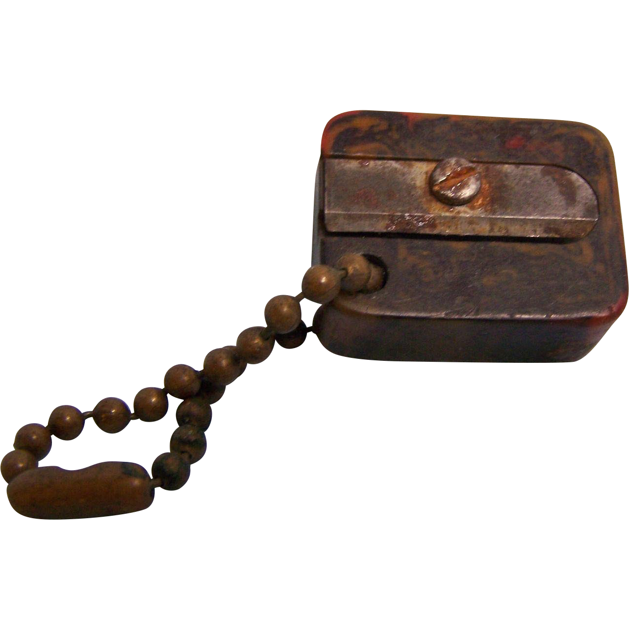 Bakelite pencil Sharpener with Chain