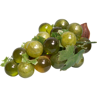Lucite Green Grape Cluster 1960's on Driftwood