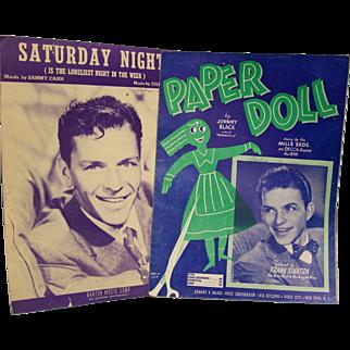 Sheet Music Frank Sinatra Paper Moon Saturday Night set of 2