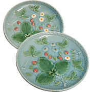 Zell G S German Majolica Plates Set of 2