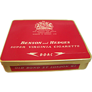 Benson & Hedges 20 Cigarette Tin,  London  1950's