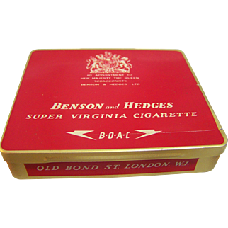 Benson & Hedges 20 Cigarette Tin,  London  1950's