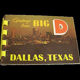 Dallas Souvenir Folder 8 Historic Color Miniature Photos 1968