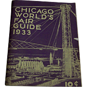 Chicago World's Fair Guide 1933