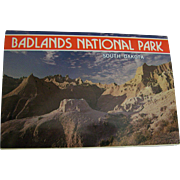 Badlands Photo Souvenir Postcard Folder